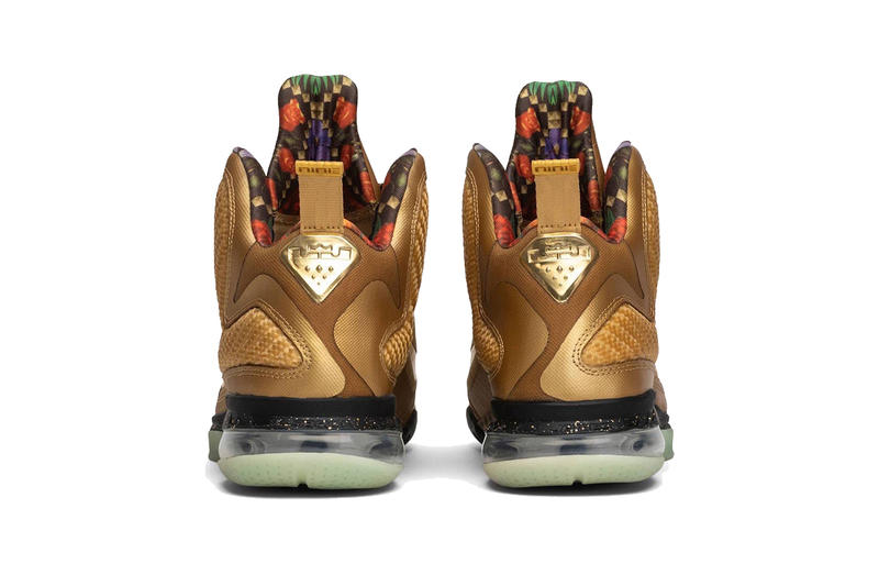 nike lebron 9 watch the throne gold sample lebron james footwear jay-z kanye west black