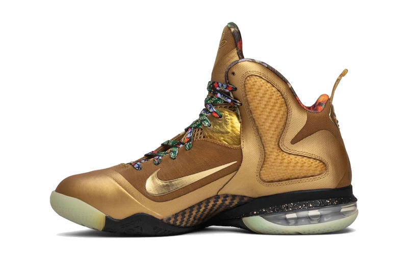 3177ef9d5d4 nike lebron 9 watch the throne gold sample lebron james footwear jay-z  kanye west
