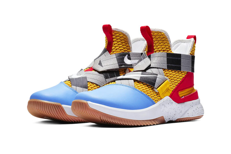 "Nike LeBron Soldier 12 ""Arthur"" release info lebron james swoosh nike basketball red yellow black blue white"