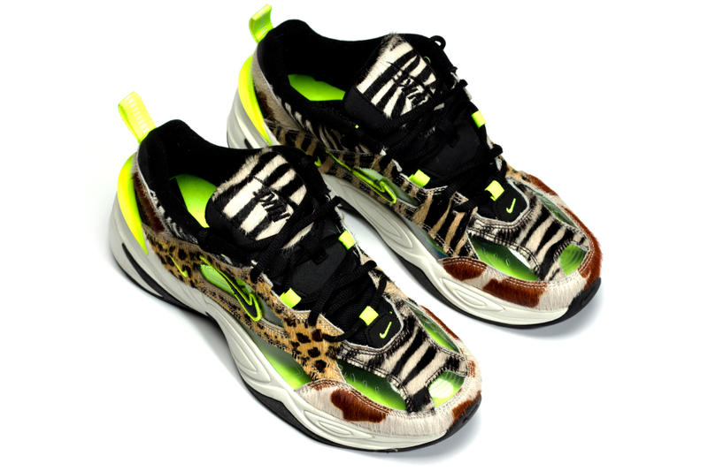 Nike M2K Tekno Animal Print Volt Dad Shoes 5000 Pairs Limited Edition CI9631-037 Closer First Look Details Release