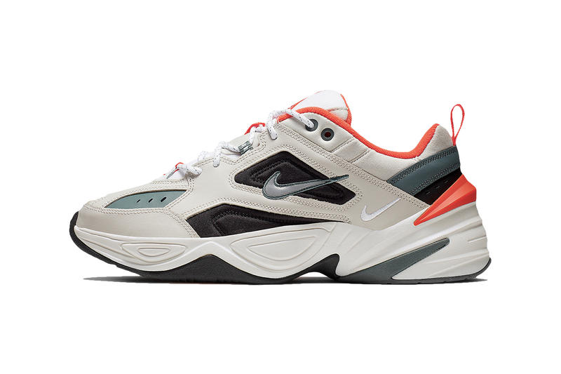 the latest 9c305 8a570 Bone-Colored Nike M2K Tekno Get Hits of Bright Orange olive black bone  images release