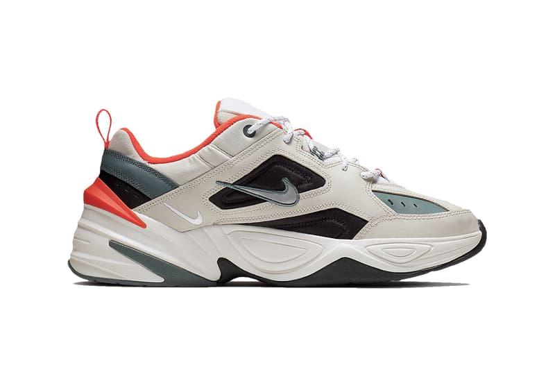 Bone-Colored Nike M2K Tekno Get Hits of Bright Orange olive black bone images release drop info price footwear dad sneakers shoes