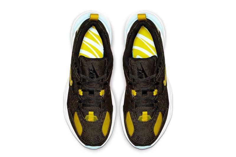 "Nike M2K Tekno ""Denim"" lançamento jeans amarelo azul branco swoosh nike sportswear"