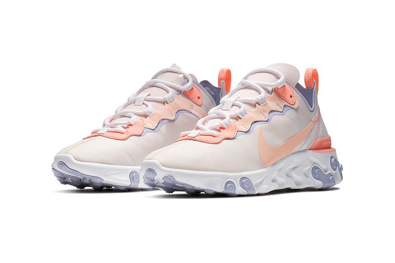"Nike React Element 55 ""Pale Pink"" BQ2728-601 ""Pale Pink/Washed Coral-Oxygen Purple"" release info february drop stockist pricing retailer web store"