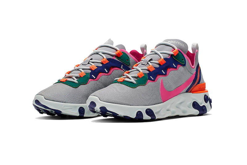 nike react element 55 wolf grey 2019 nike sportswear footwear