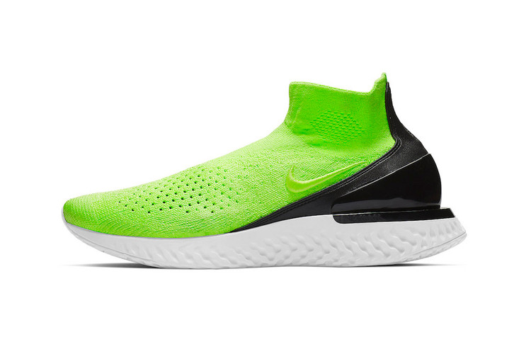 e95ebdb3ab62 Nike Splashes New Rise React Flyknit With Lime Green Tint