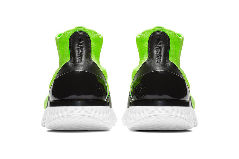 Nike Splashes New Rise React Flyknit With Lime Green Tint drop release date images price info footwear white black