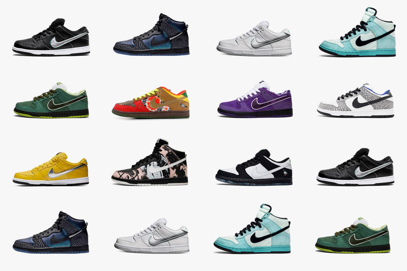 GOAT's Looks Back at Nike SB Colorways skateboarding concepts supreme dunkle eric koston lobster green purple jeff staple pigeon panda diamond supply nicky black sheep