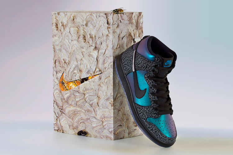 "7dc60f737476ca UPDATE  Nike Confirms Release Date of Crossover SB Dunk High ""Black Hornet"""
