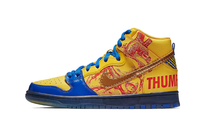nike sb dunk high doernbecher freestyle release date 2019 february footwear nike sb Finnigan Mooney thumb tump thumbs up yellow blue red gold