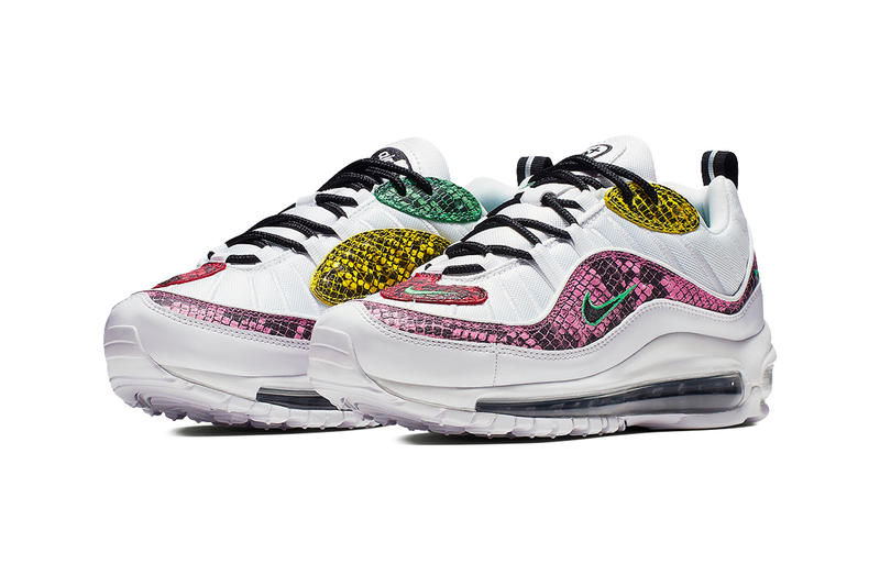 online store 29c97 73244 Nike Wmns Air Max 98 Multi-Colored Snakeskin Release drop date images white  green yellow