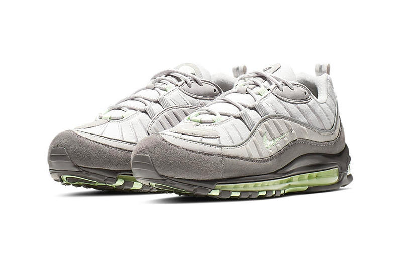 "Nike Air Max 98 ""Vast Grey/Fresh Mint-Atmosphere Grey"" Drop Info 640744-011 release stockist pricing 2000 re-release"
