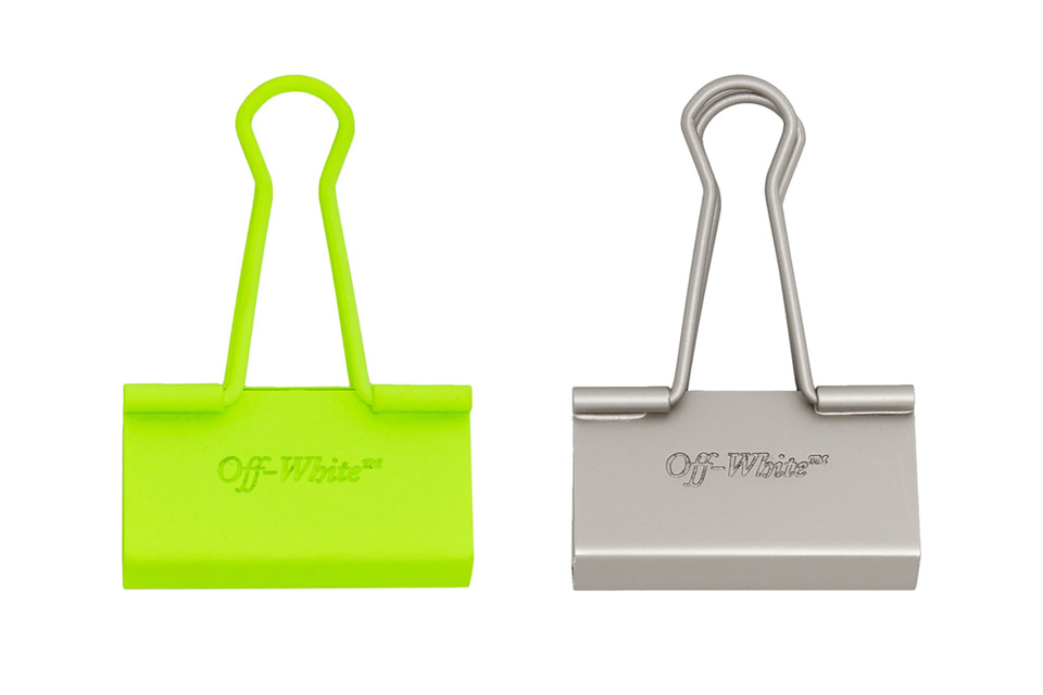 d03e877e0104 Virgil Abloh Continues His Office Obsession With These Off-White™ Binder  Clips