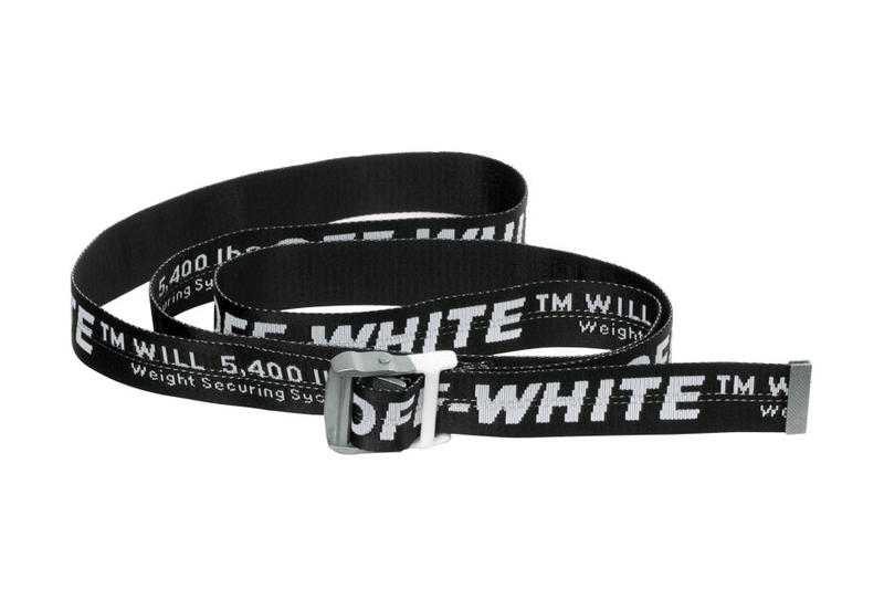 Off-White™ Industrial Belt Monochrome Exclusive colorway black white available silver buckle special limited