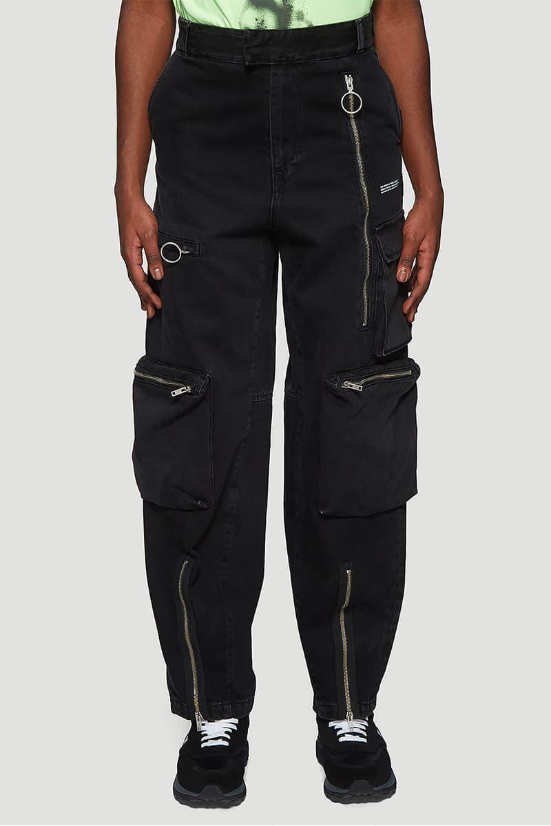 Off White Multi Pocket Jeans Release fashion info designer pants black