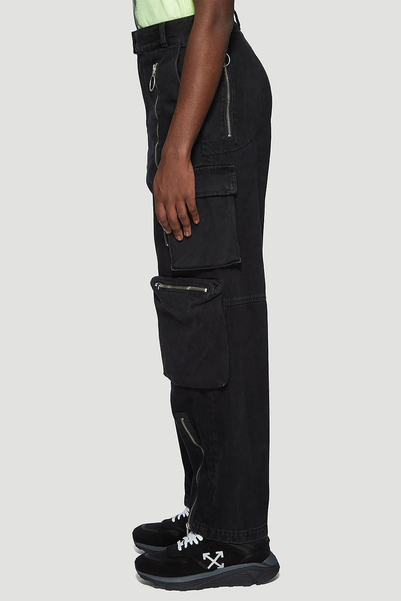 Off White Multi Pocket Jeans Release fashion info designer pants black