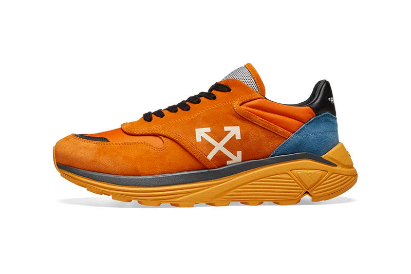Off-White™ Drops Jogger Sneaker in Orange & White sneaker trainer virgil abloh release info price stockist vibram suede