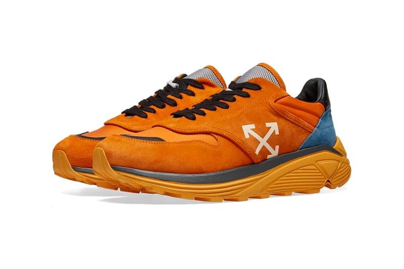 Off-White™ Drops Jogger Sneaker in Orange & White sneaker trainer virgil abloh release info price stockist vibram suede