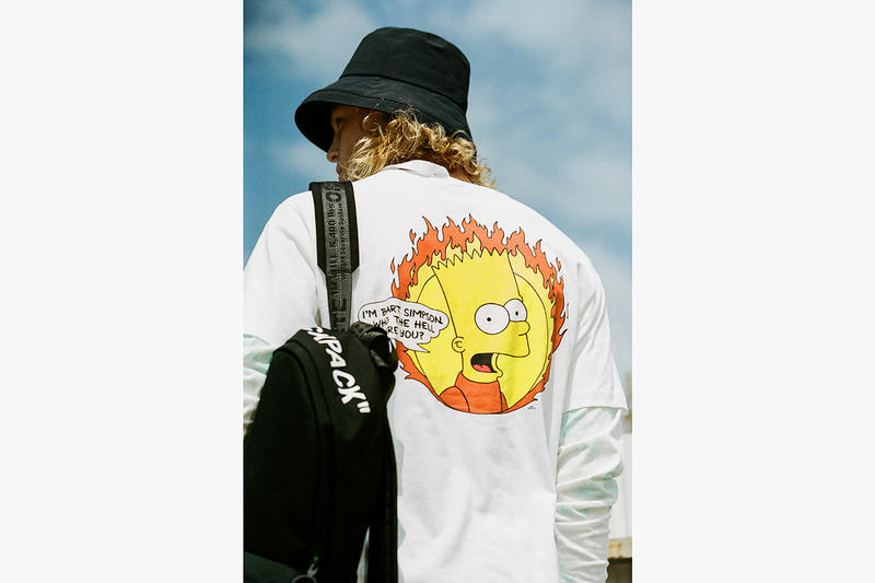 "Off-White Spring Summer 2019 Jim Stark Collection Bart Simpson ""Rebel Without A Cause"" 90s New York City Streetwear Inspiration Dondi White Graffiti Artist Graphics New Collection HBX Drop Release Information"