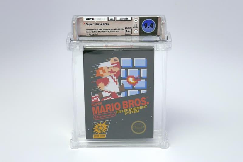 Original Super Mario Bros Auctioned $100K USD 100150 Wata Games Sold Nintendo