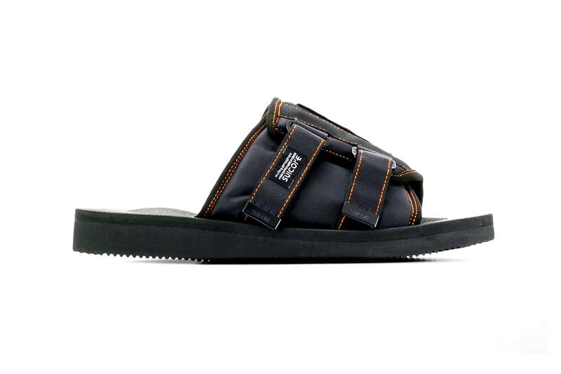 Palm Angels Suicoke Patch Slider Sandals Black Orange Release