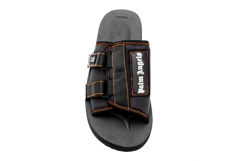 Palm Angels Suicoke Patch Slider Sandals Black Orange Release
