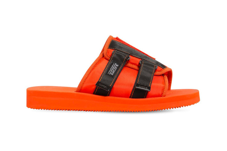 b1c836ece046 Palm Angels   Suicoke s Patch Slider Sandals Arrive in Neon Orange