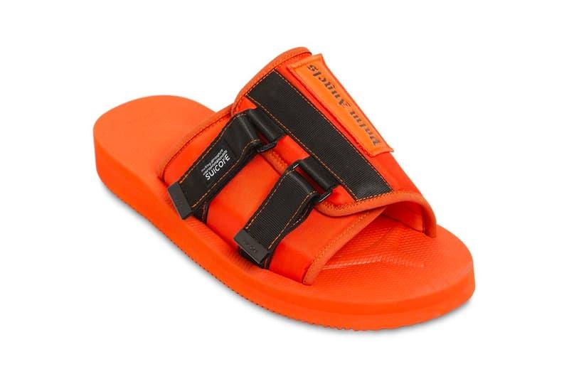 PALM ANGELS SUICOKE Patch Slider Sandals Release Info Orange Black