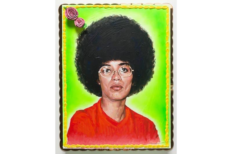 patrick martinez exhibition fort gansevoort artworks cake paintings neon artwork