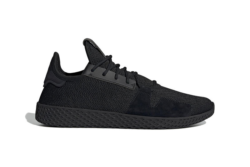 994001e907173c pharrell williams adidas originals tennis hu v2 2019 february footwear  black white tonal all over