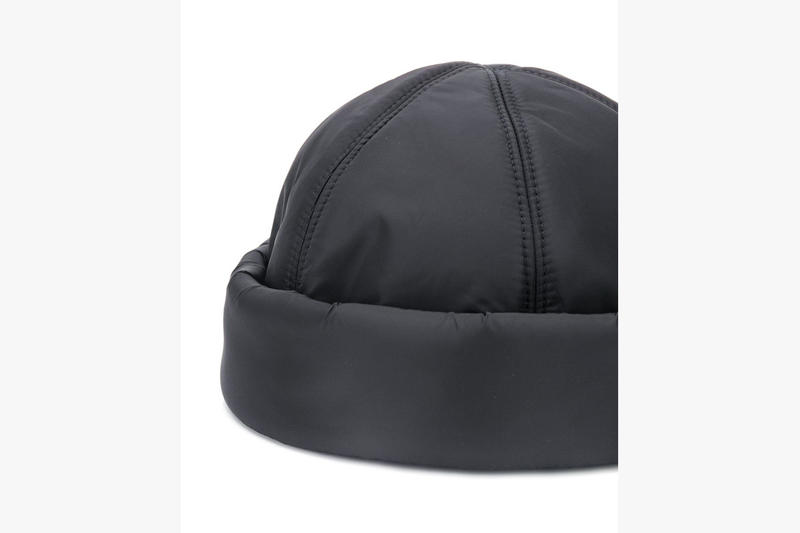 Prada Padded Nylon Beanie Release Info  SS19 spring summer 2019 waterproof insulated insulation farfetch black