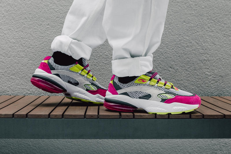"PUMA Cell Venom ""Fresh"" Closer Look '90s running cushioning bright colors sail neon green pink grey white"