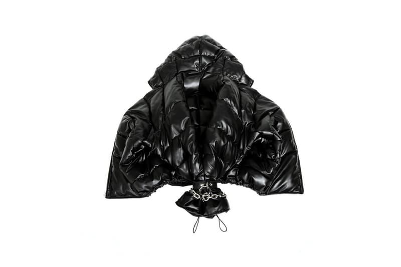 Random Identities Sustainable rubber Duvet Jacket ssense faux leather Release
