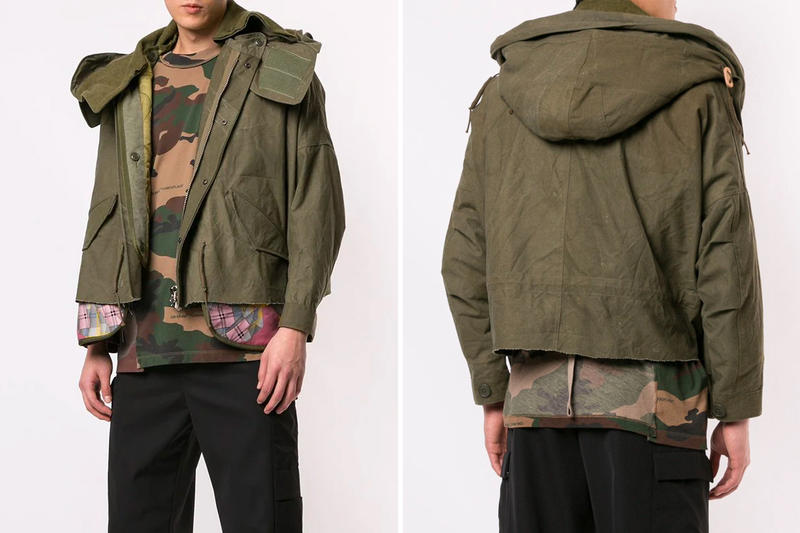 READYMADE Layered Style Jacket Green Cropped Release Info Date One of a kind handmade Japanese Cut Fishtail Parka Jackets
