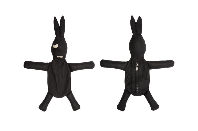 Rick Owens Bunny & Cyclops Pouches Drop Info Black Fur Bunny Pouch Grey Shearling Cyclops Pouch Black Leather Cyclops Pouch made in italy ssense zip