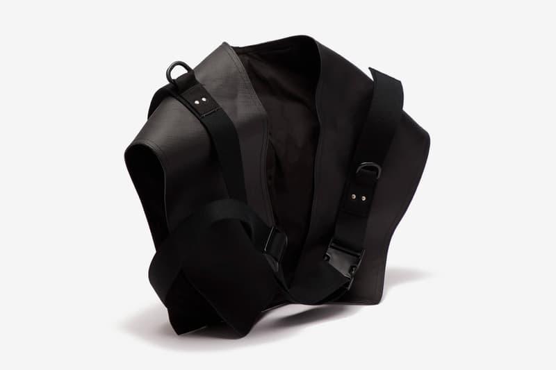Rick Owens Rubberized-Cotton Utility Belt Bag Release Black