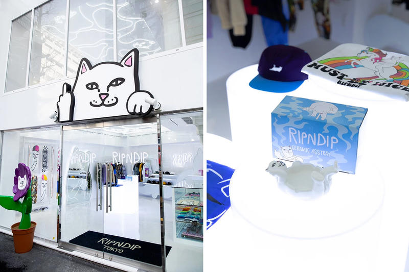 A Look Inside the New RIPNDIP Tokyo Flagship Store apparel accessories footwear images opening date February 9 info address
