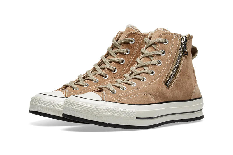 dc7fe8cd4dfb63 RIRI Zipper Converse Chuck Taylor All Star  70 Release Info Brown Leather  Sand Suede Black
