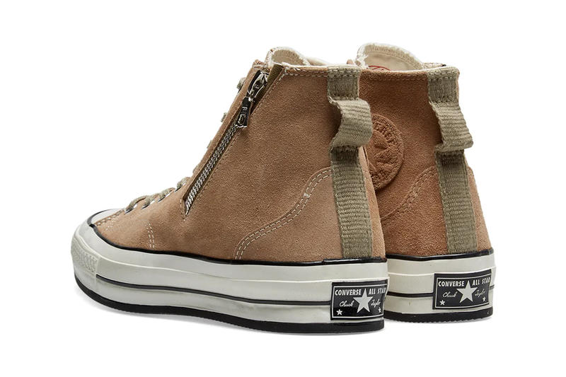 8db5953be3b1eb RIRI Zipper Converse Chuck Taylor All Star  70 Release Info Brown Leather  Sand Suede Black