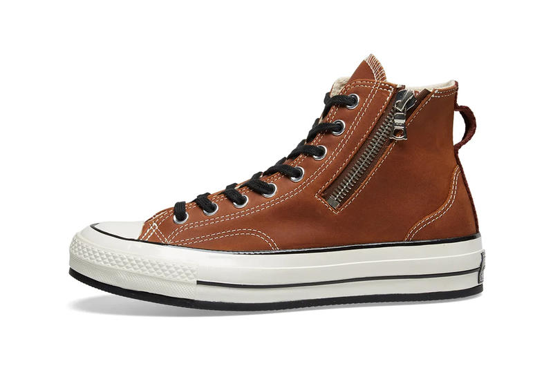 cc2d44e057e9 RIRI Zipper Converse Chuck Taylor All Star  70 Release Info Brown Leather  Sand Suede Black