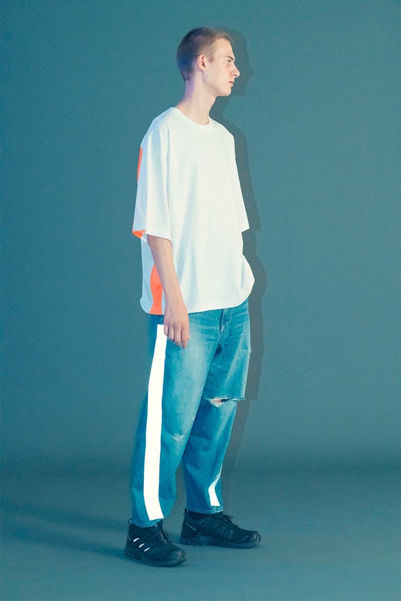 ROTOL Spring/Summer 2019 Lookbook japan workwear americana 3m jeans stitch detailing kimono haori jeans denim orange neon earthy tone coverall outwear jacket tshirt shirt tailoring tailor