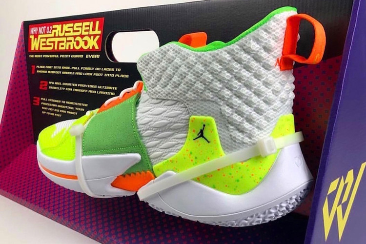 """6bd35a69e0521a Jordan Brand Preps a """"Super Soaker""""-Inspired Russell Westbrook Why Not Zer0."""