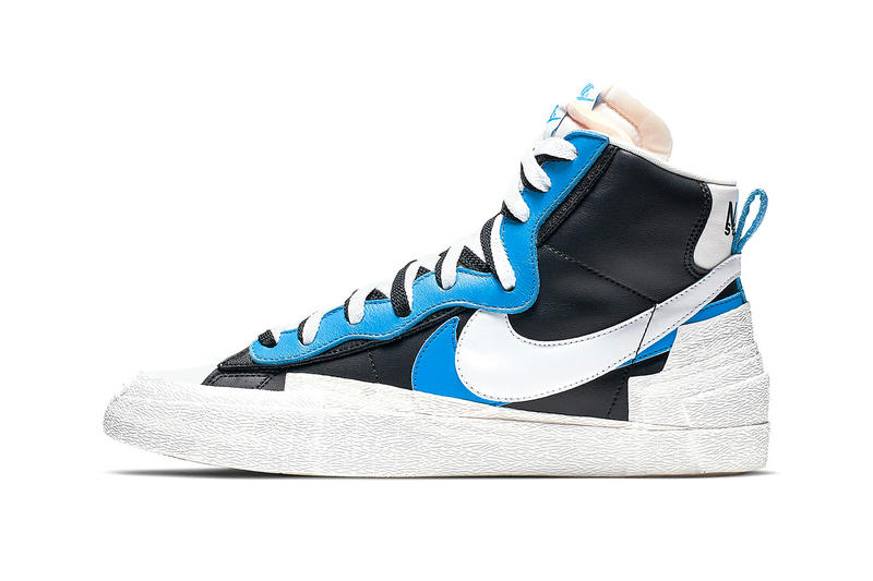 Take a Closer Look at Sacai x Nike Deconstructed Blazer High release drop date images price footwear black white blue red yellow info