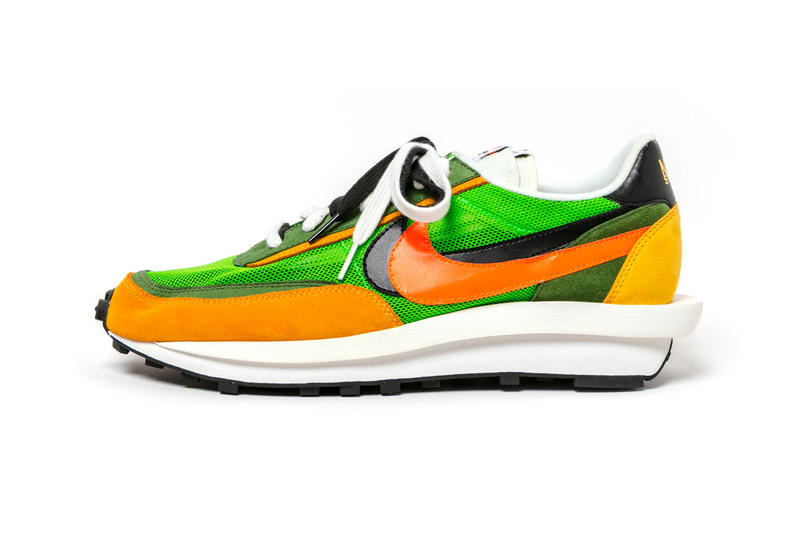 "Sacai x Nike LDV Waffle Color: ""Green Gusto/Black-Varsity Maize-Safety Orange"" Style Code:BV0073-300 Release Date: March 7, 2019 ""Varsity Blue/Del Sol-Varsity Red-Black"" BV0073-400 release info price stockist"