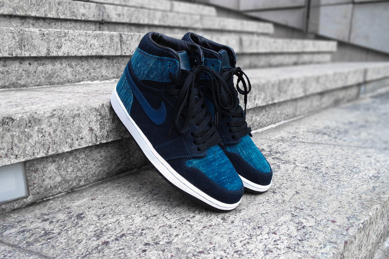 2bd3549abc6 Simple Union Nike Air Jordan 1 Denim Custom jeans blue hand crafted