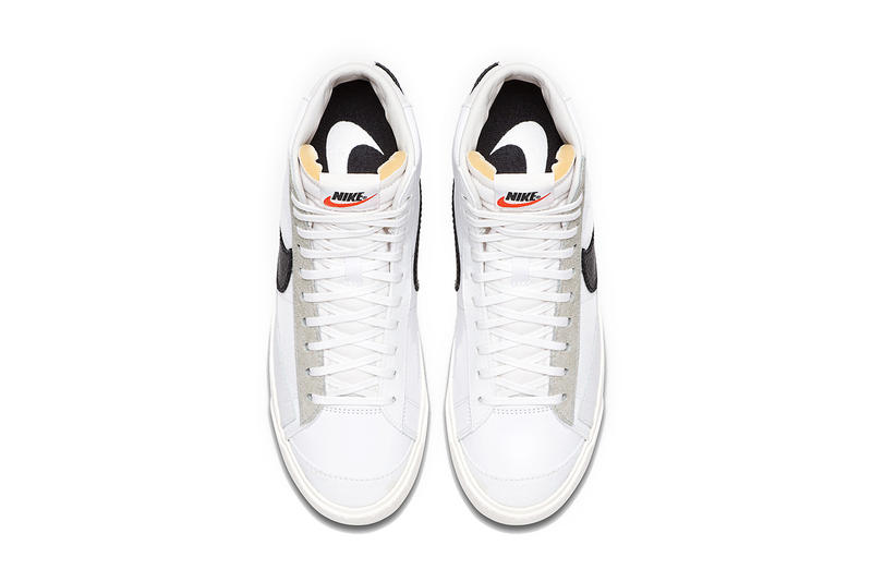 slam jam nike blazer mid class of 1977 white black sail nike sportswear footwear 2019 february