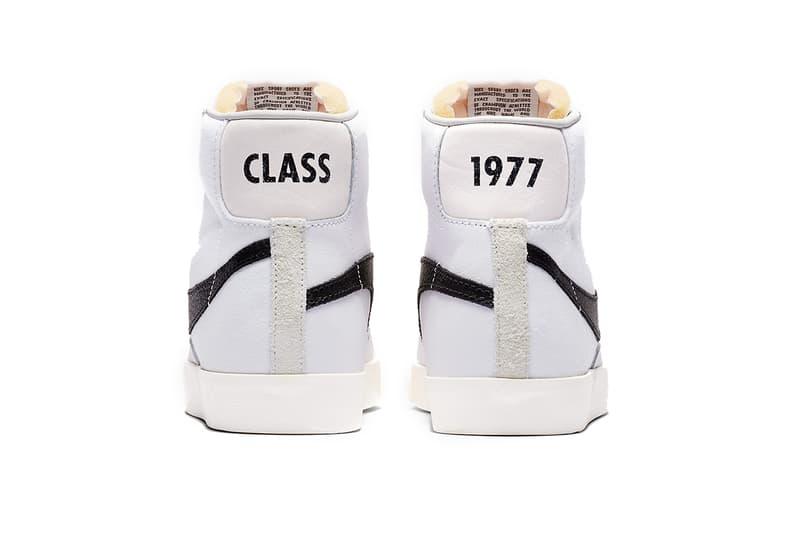 slam jam nike blazer mid class of 1977 white black sail nike sportswear footwear 2019 february