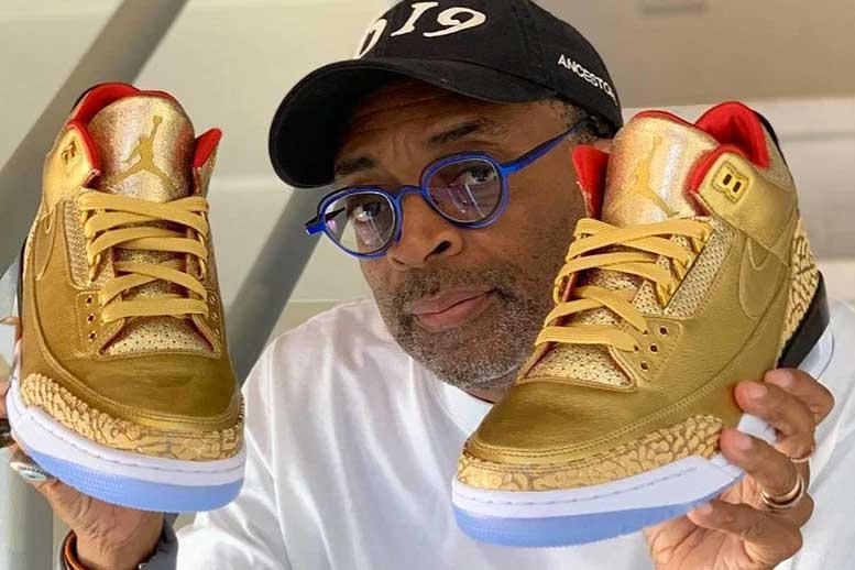 spike lee air jordan 3 tinker gold oscars sneakers footwear awards ceremony entertainment custom