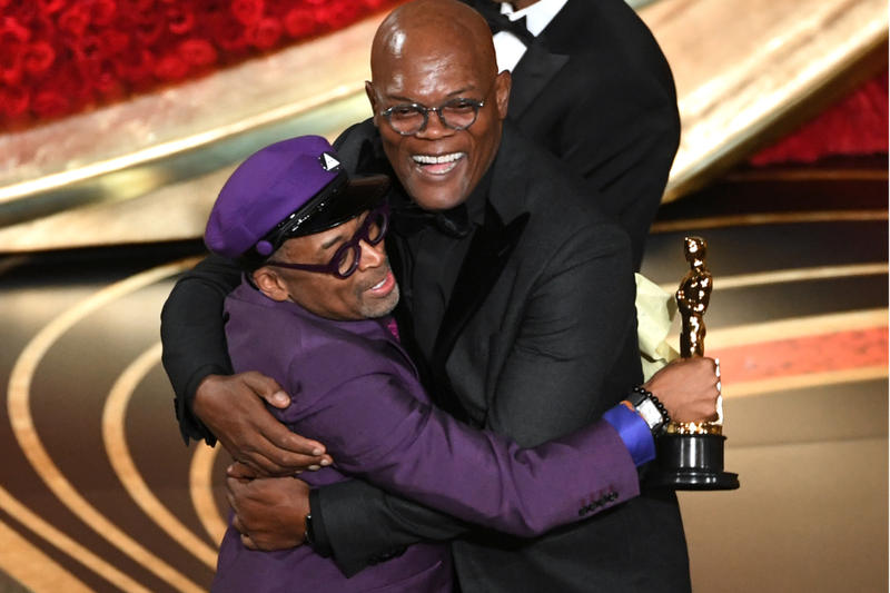 Spike Lee Wins First Oscar With 'BlacKkKlansman' best adapted screenplay movies films 91st academy awards samuel l jackson