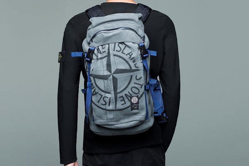 Stone Island PORTER Bags Limited Drop on App man made suede textile garment dye duffel backpack shoulder fanny pack bag